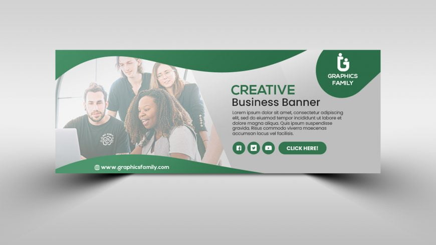 Company marketing facebook cover page template