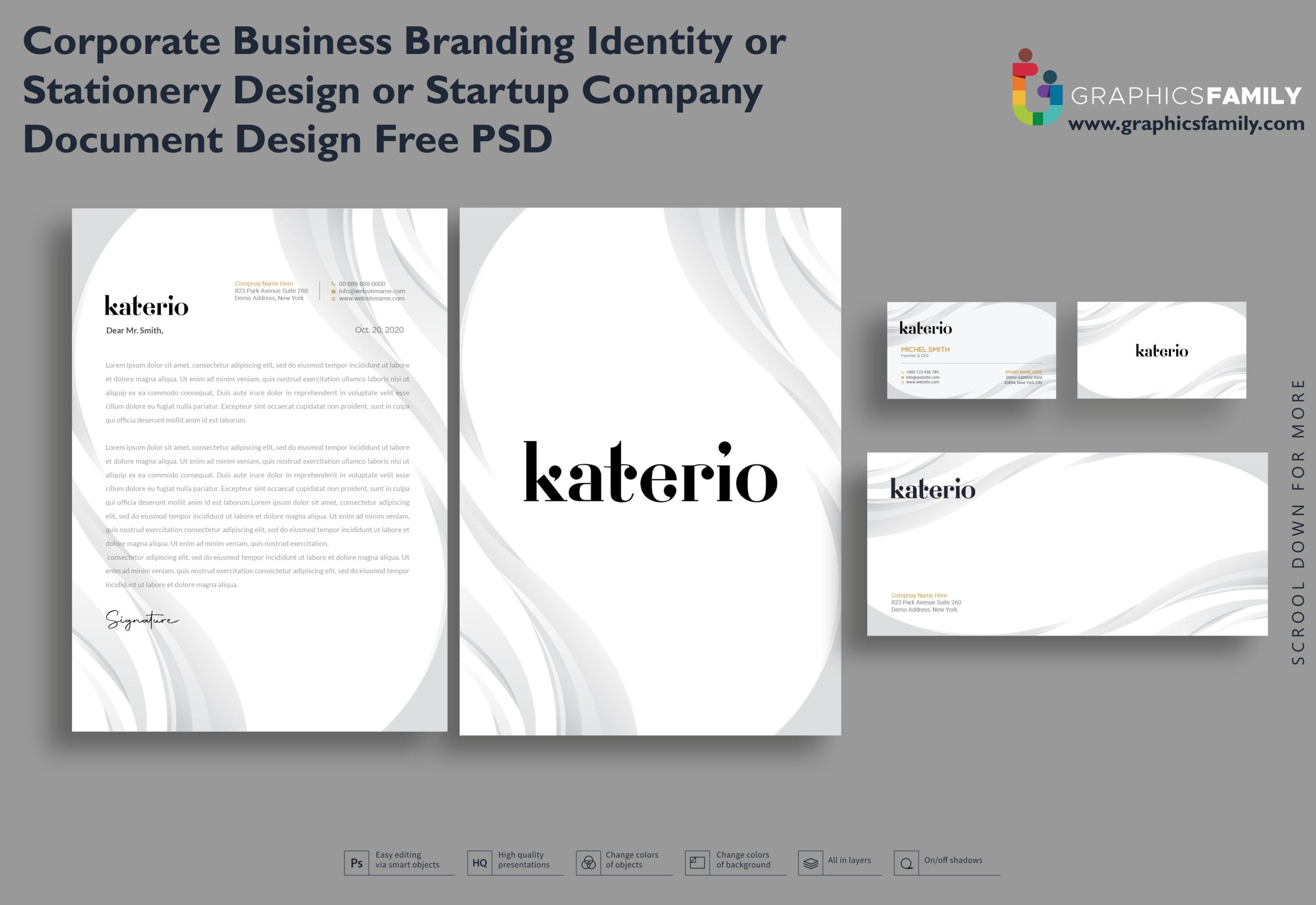 Corporate Business Branding Identity or Stationery Design Free Download