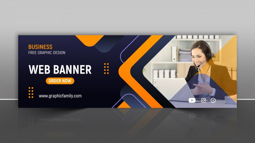 Corporate and Digital Business Marketing Promotion Horizontal Web Banner Design PSD