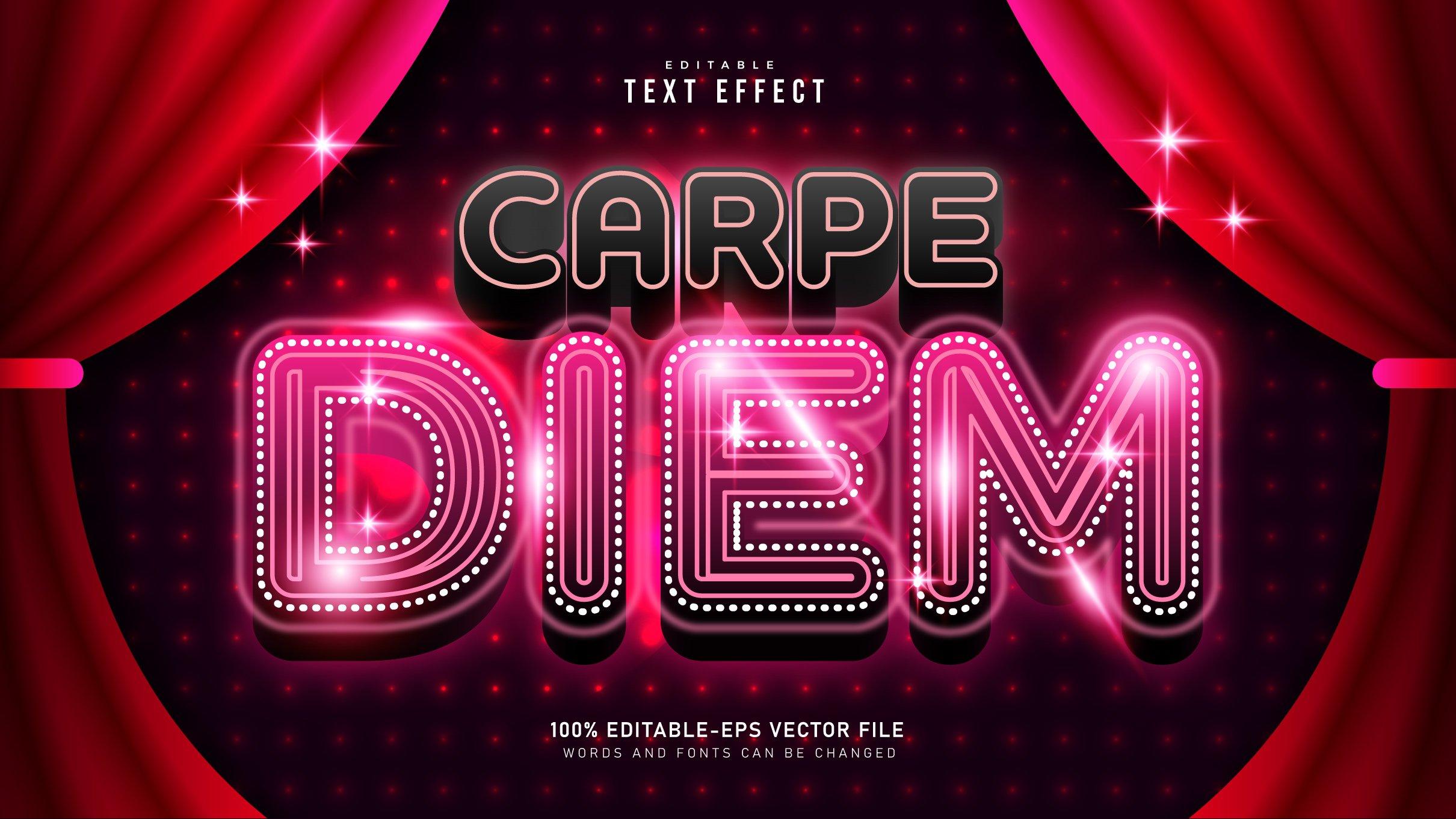 Crape-Diem-Movie-Time-Text-Effect