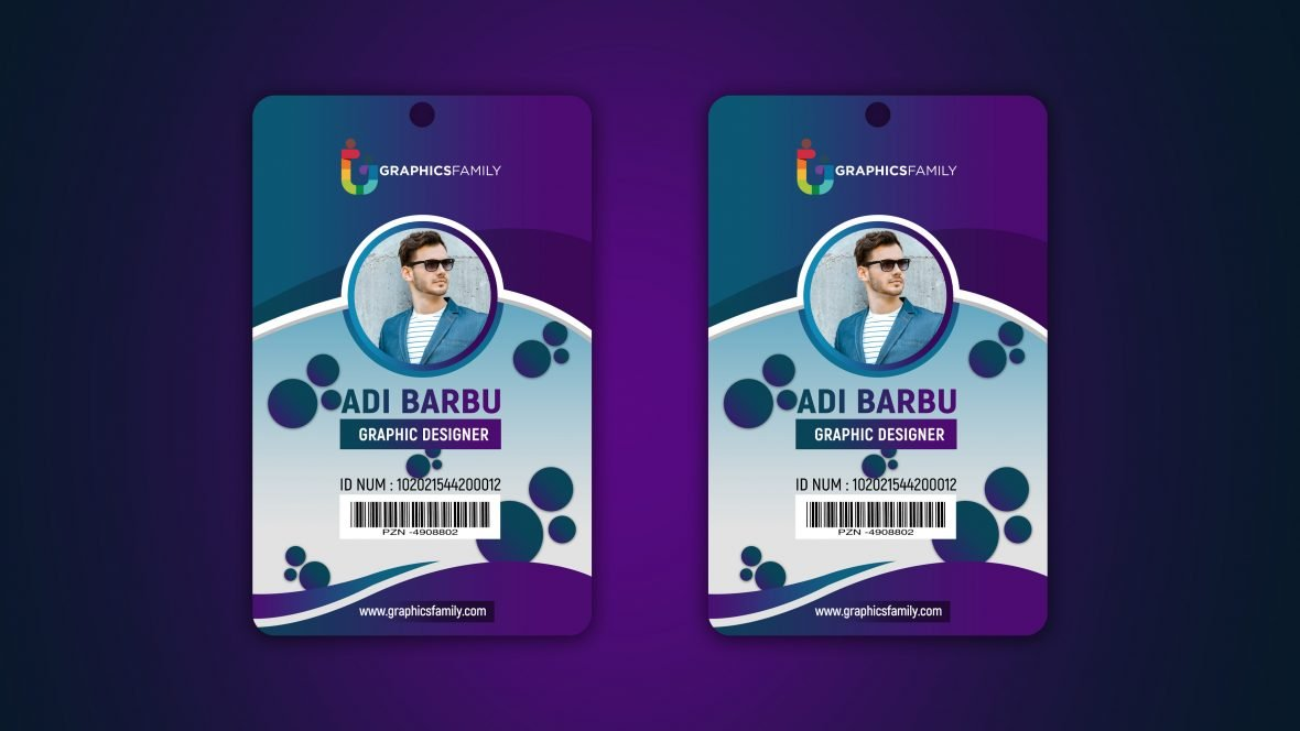 Designer Office Id Card Template Illustration Free PSD