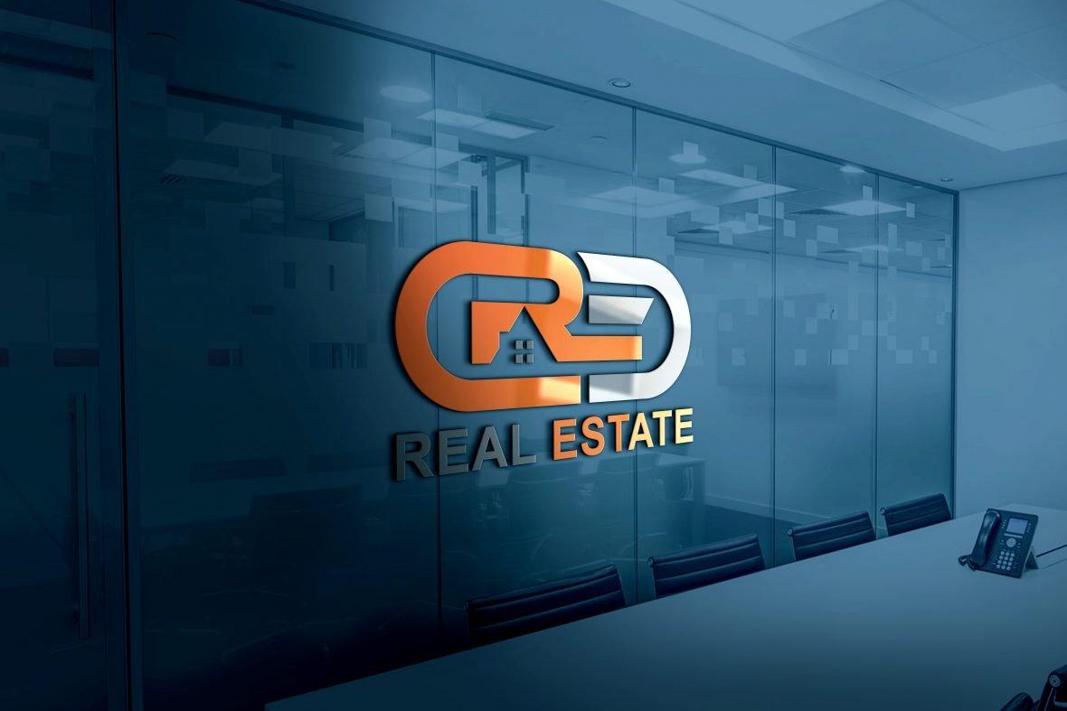 Download Modern Real Estate Company Logo Design PSD