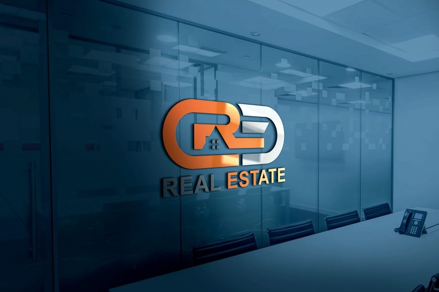 Download Modern Real Estate Company Logo Design PSD