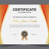 Editable Modern Diploma Vector Template