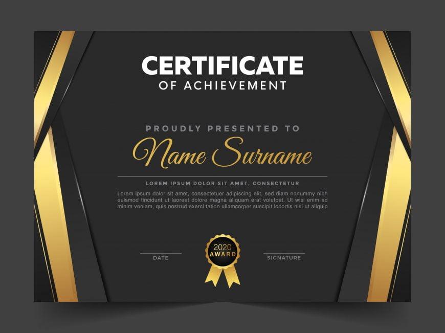 Elegant certificate template concept