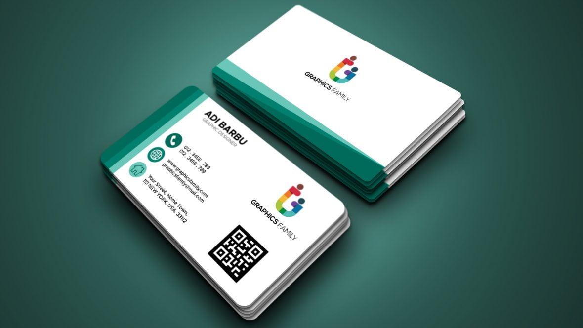 Elegant green modern business card template