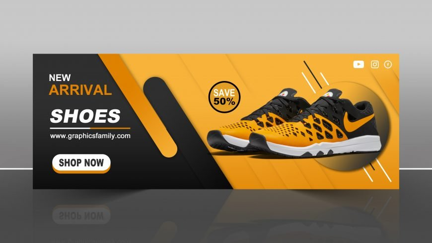 Facebook Shoes Sale Timeline Cover Banner Free PSD