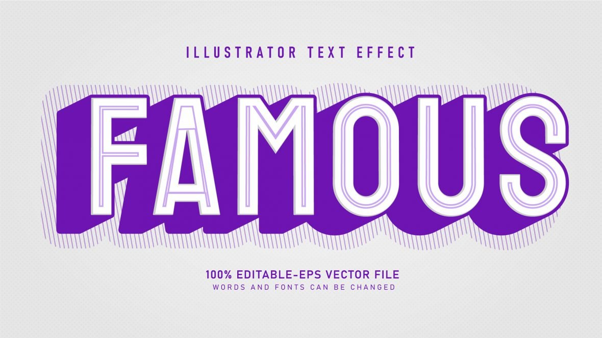 Famous-Cool-Retro-Text-Effect