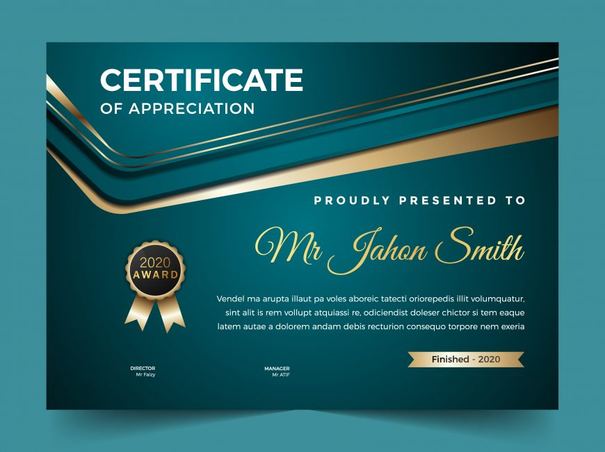 👉 💻 Free Award and Certificate of Appreciation Template to Print