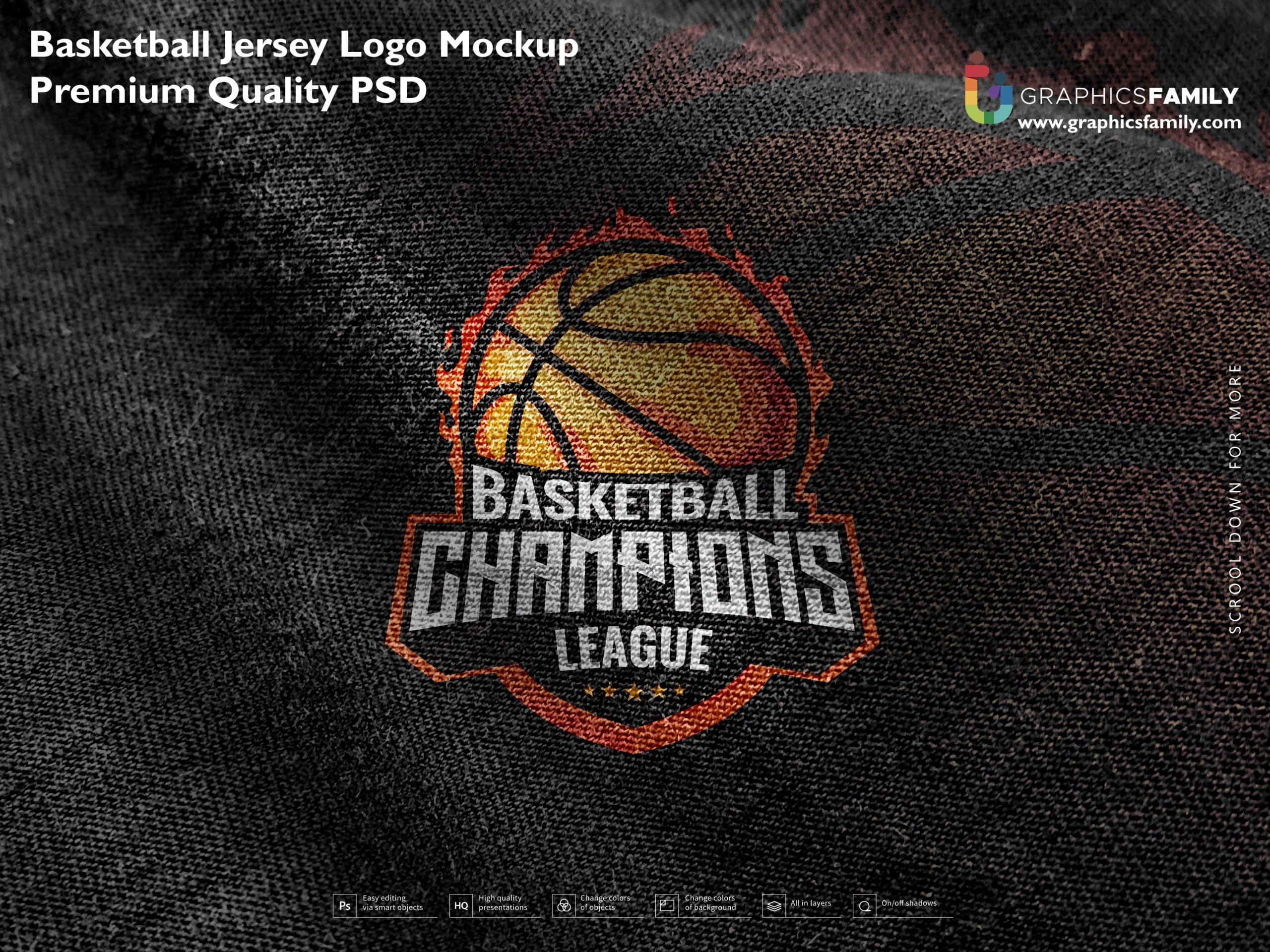 Free Basketball Jersey Logo Mockup Premium Quality PSD