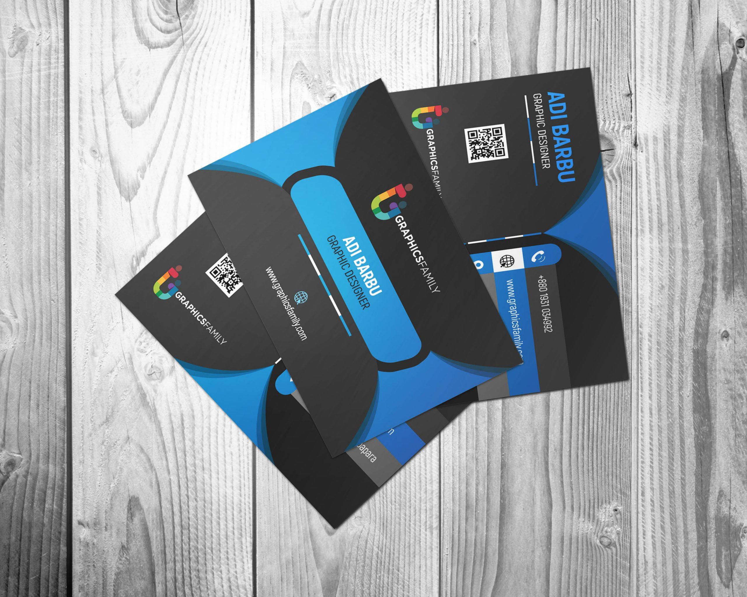 Free Black Elegant Corporate Card
