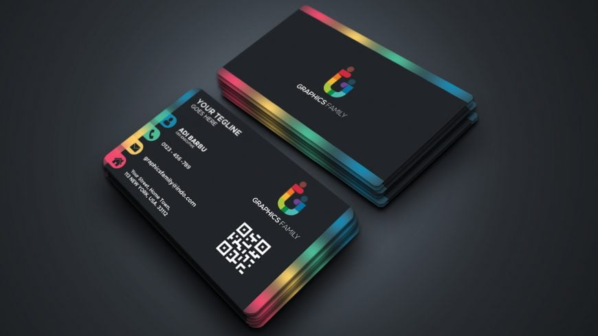 Free Business Card Design with Color Gradient