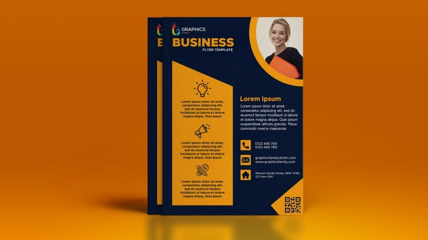 Free Business Flyer Template with Photo