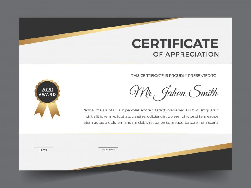 Free Certificate Template of Appreciation