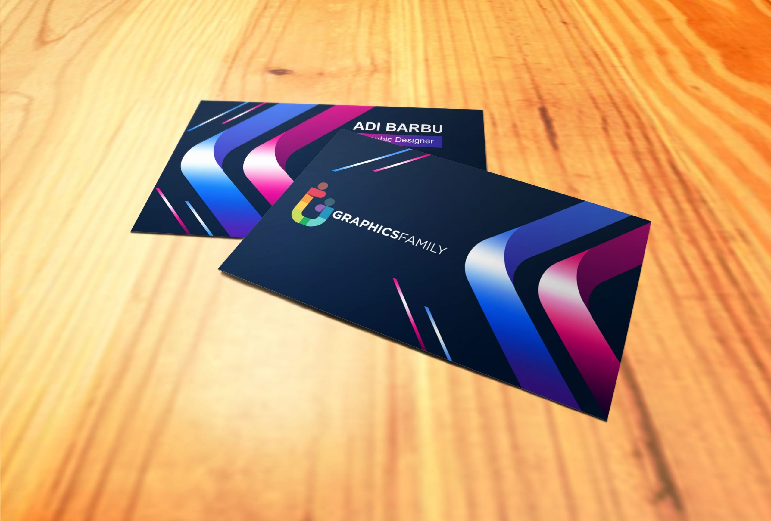 Free Creative Colorful Business Card Design Download