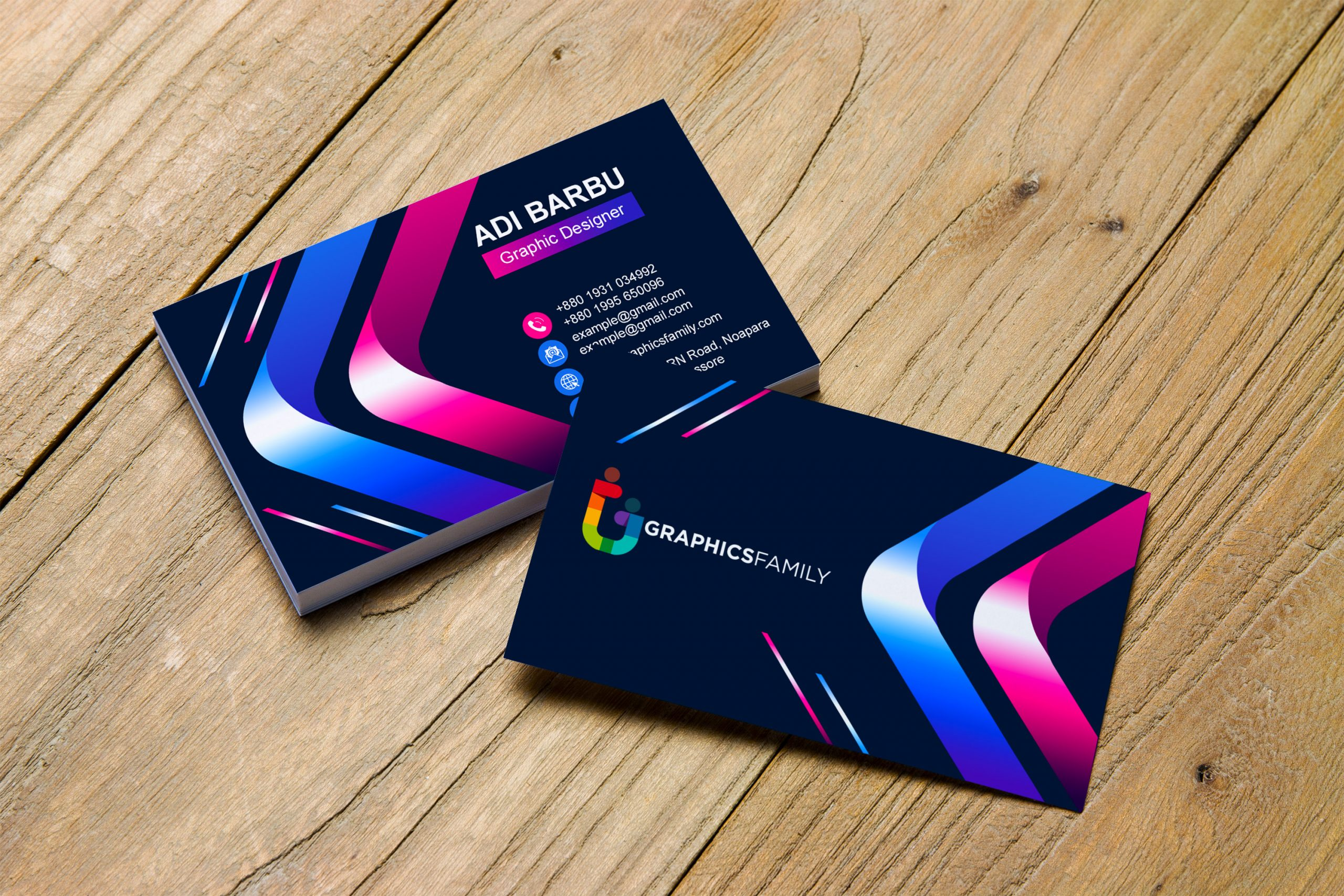 Free Creative Colorful Business Card Template Download
