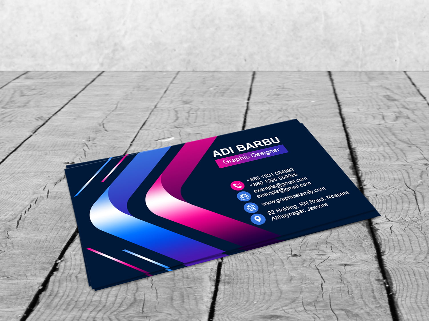 Free Creative Colorful Business Card Template