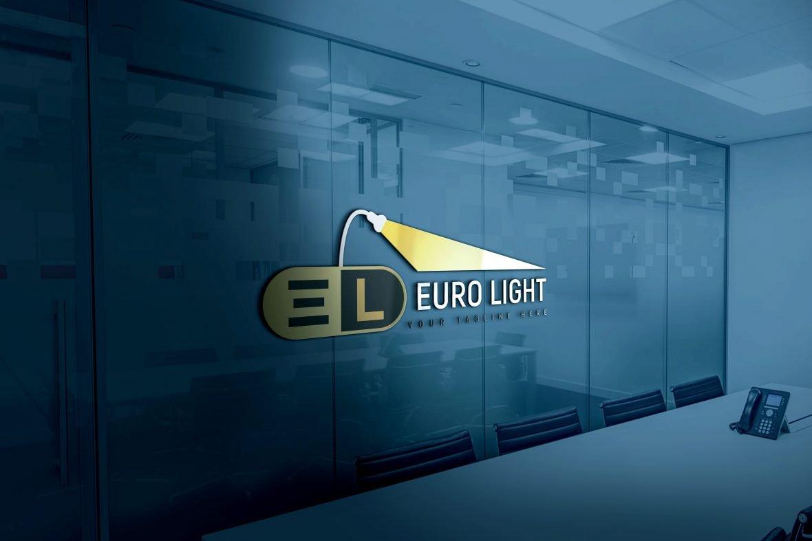 Free Creative Lights Logo Design PSD