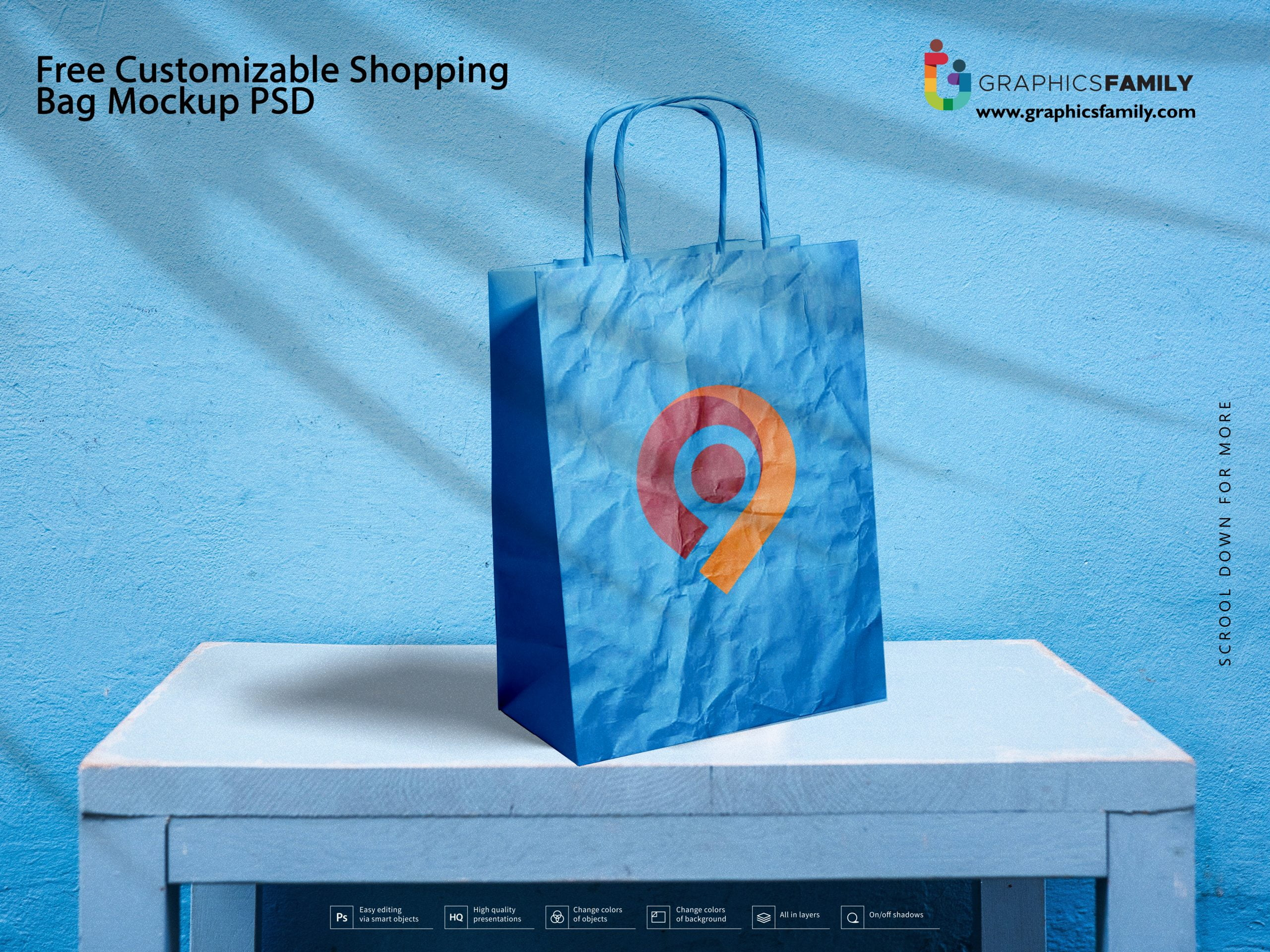 Free Customizable Shopping Bag Mockup PSD Download