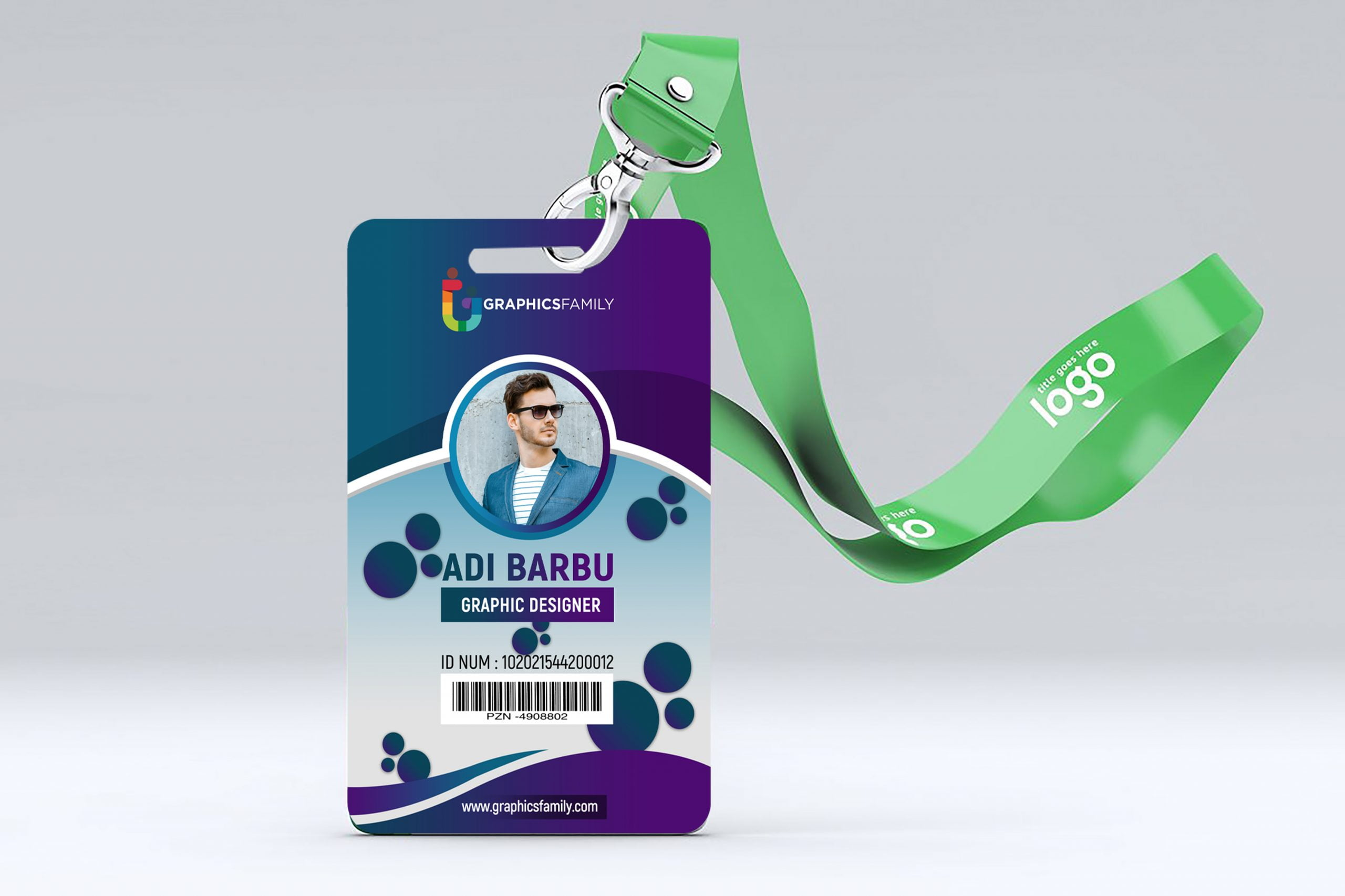 Free Designer Office Id Card Template Illustration Free PSD