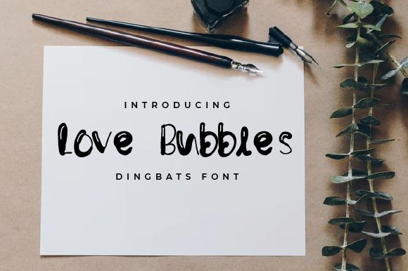 Free Download Love-Bubbles-Font