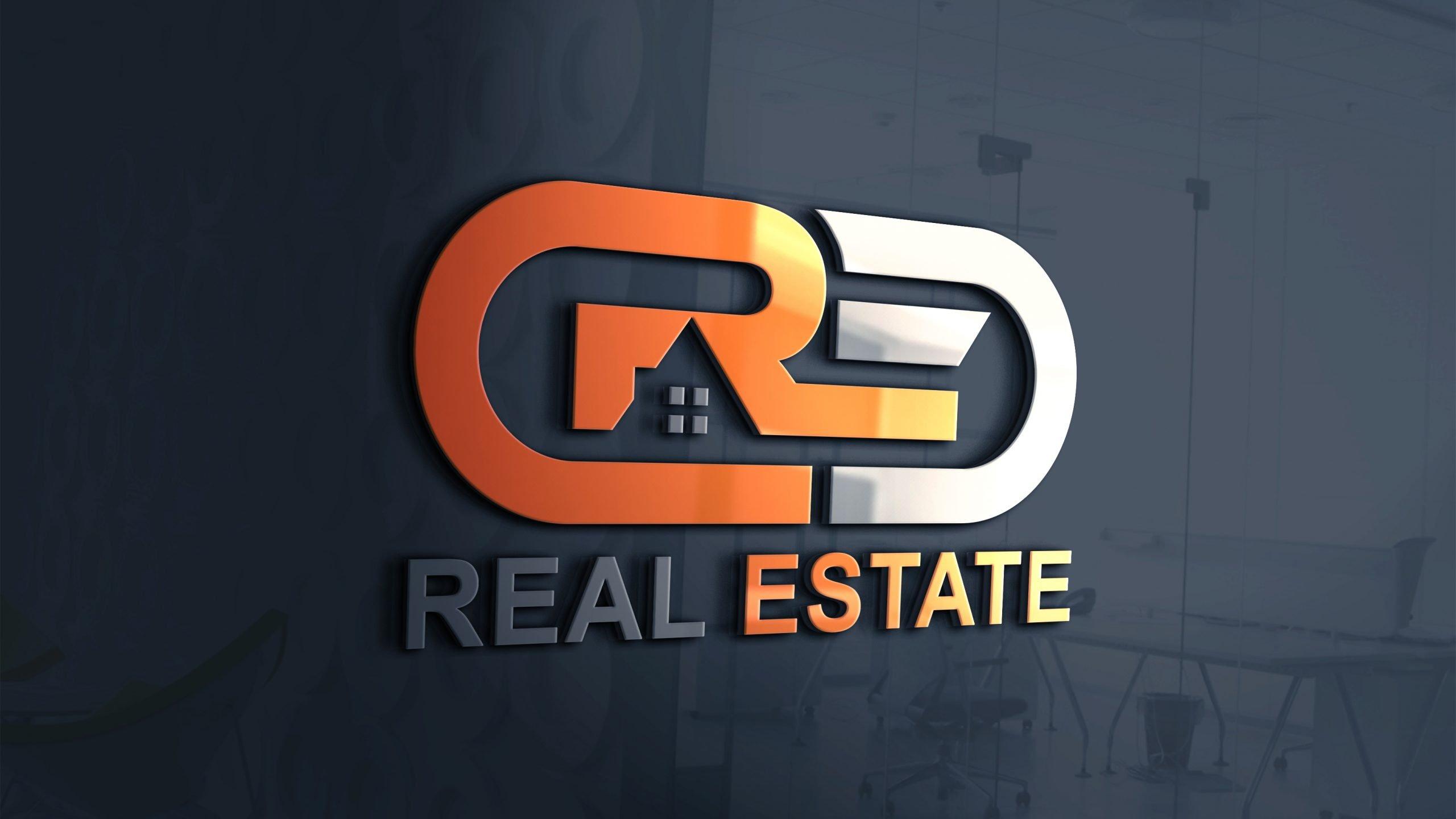 Free Download Modern Real Estate Company Logo Design PSD