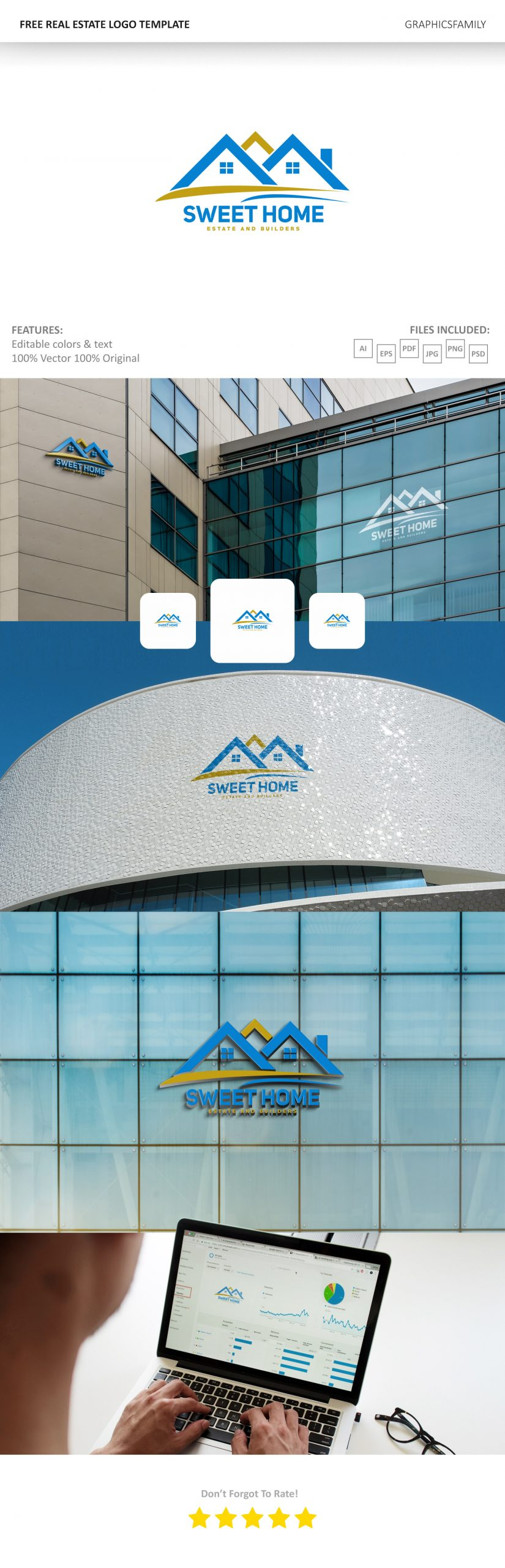 🏨 Free Download Real Estate Logo Template