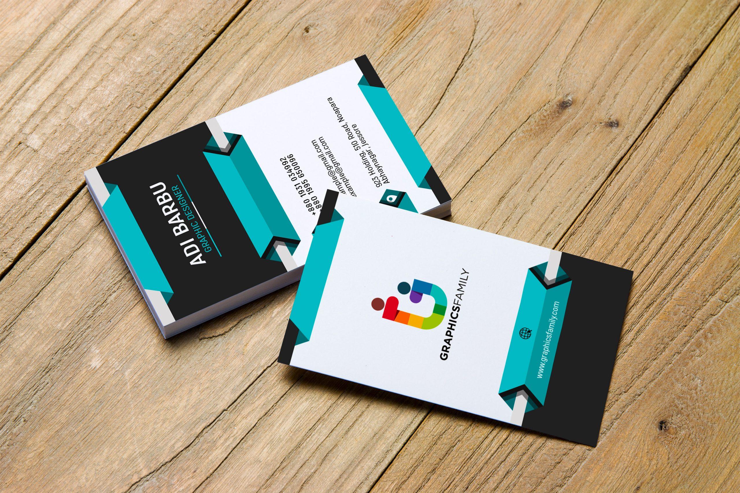 Free Download Vertical 3D Business Card Design