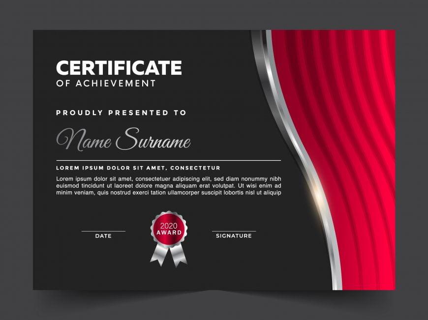 Free Editable Landscape Modern Certificate Template