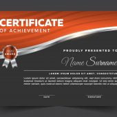 Free Editable Modern Certificate Vector Template