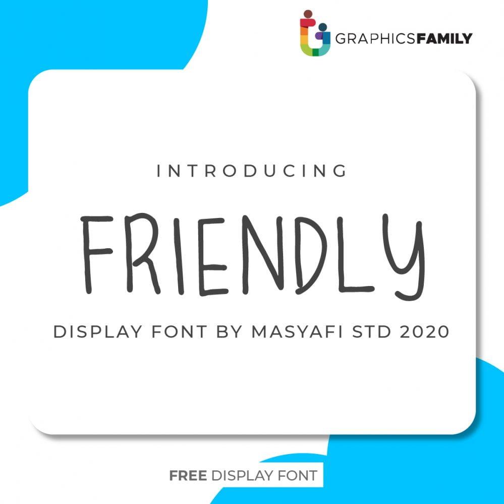 Free Friendly Font