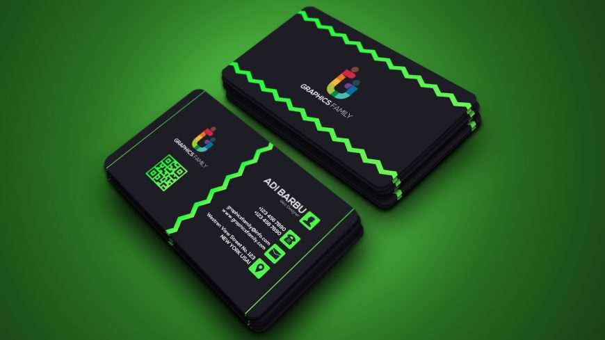 Free Green and Black Business Card Template
