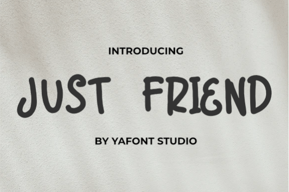 Free Just-Friend-Font Download
