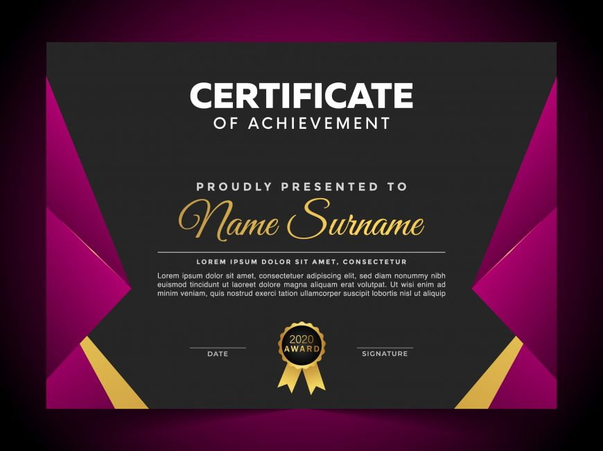 Free Luxury Certificate Template of Appreciation
