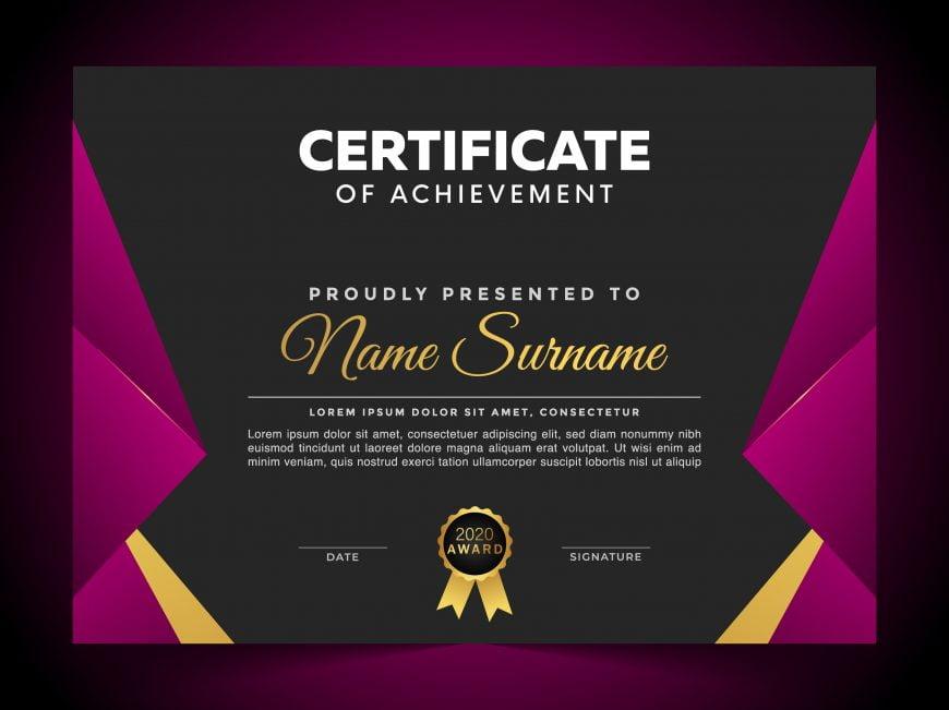 Free Luxury Certificate Template of Appreciation