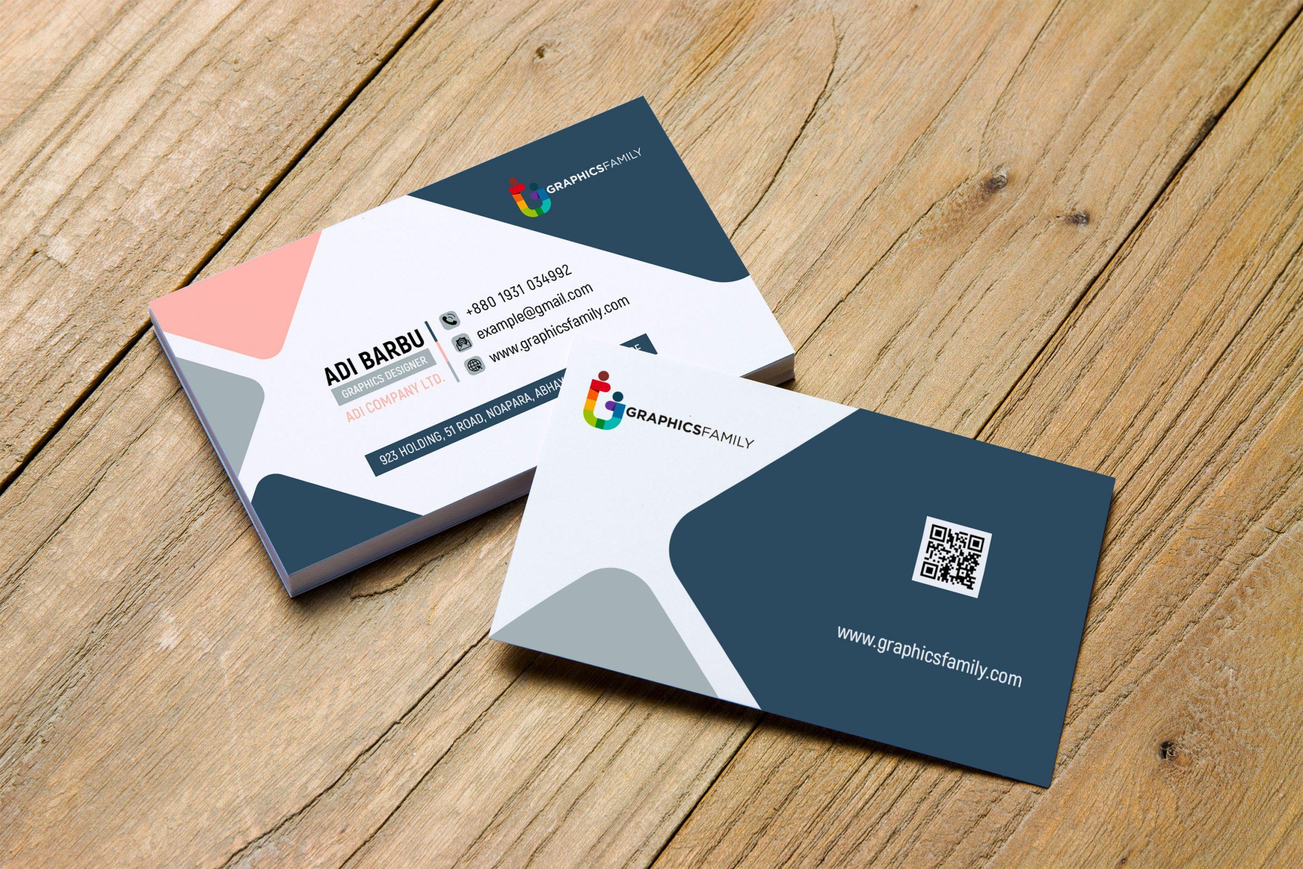 Free Minimal Modern Business Card Design Download
