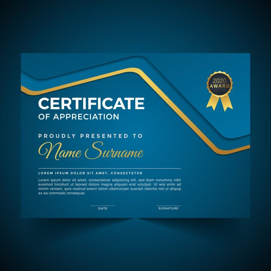 Free Modern Certificate Template of Appreciation