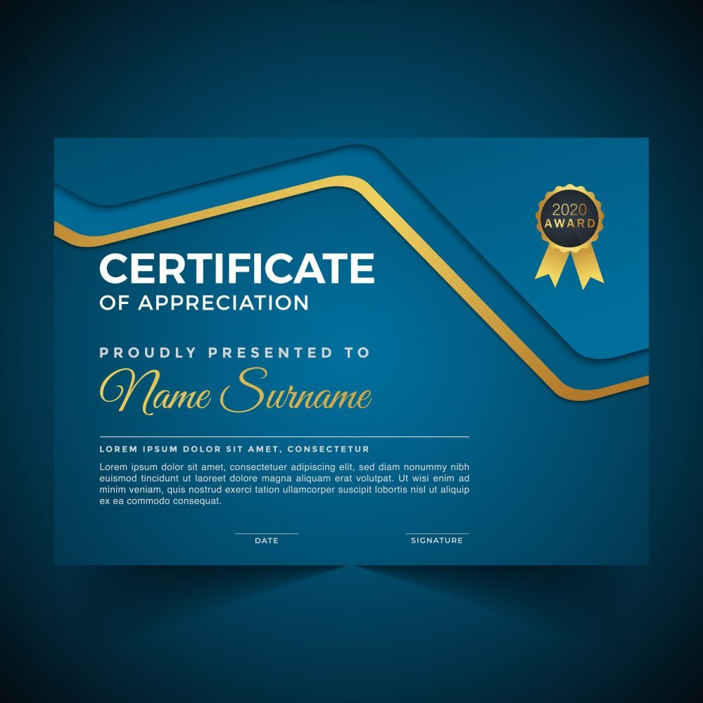 Free Modern Certificate Template of Appreciation
