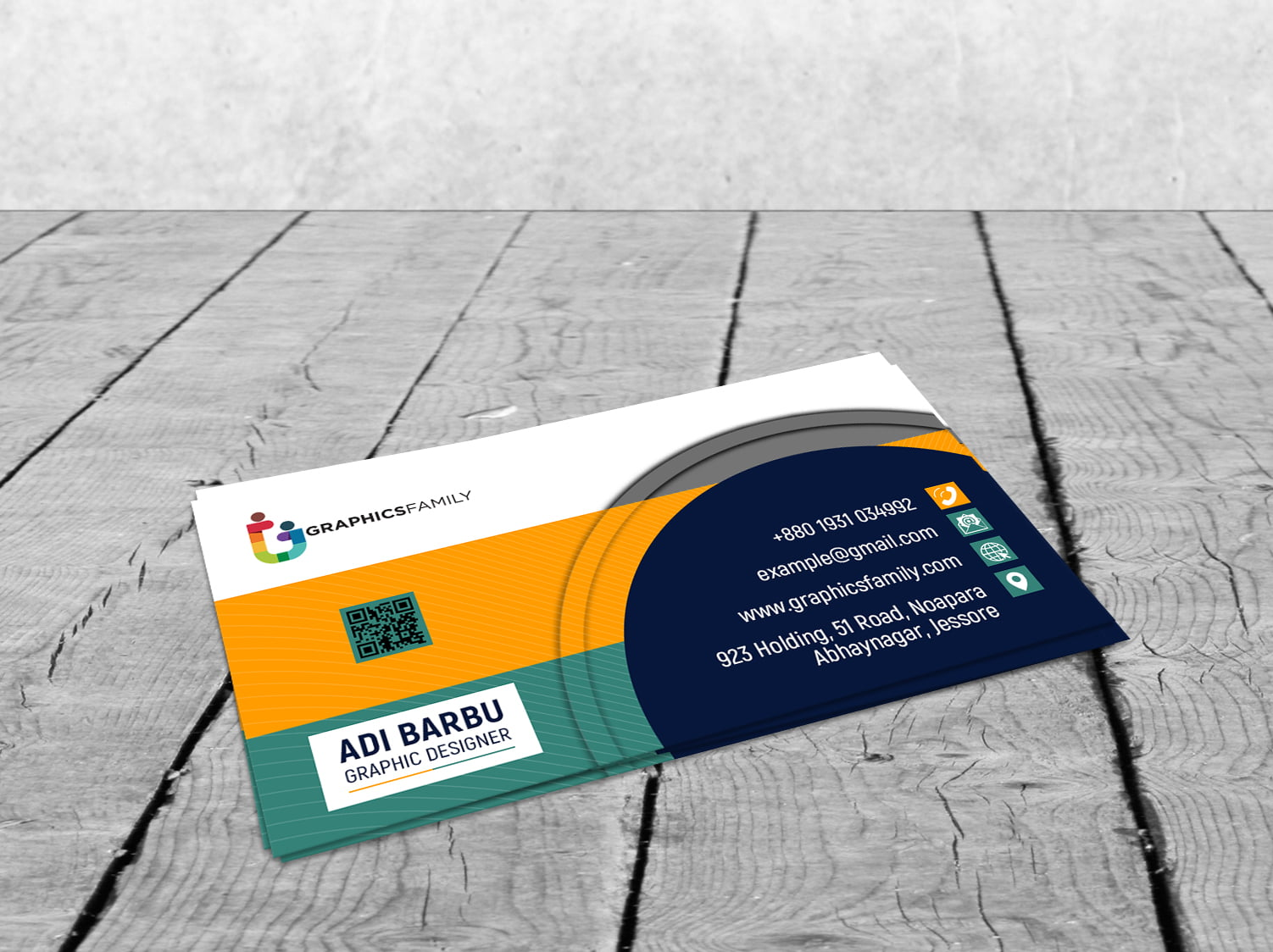 Free Modern Clean Business Card Template