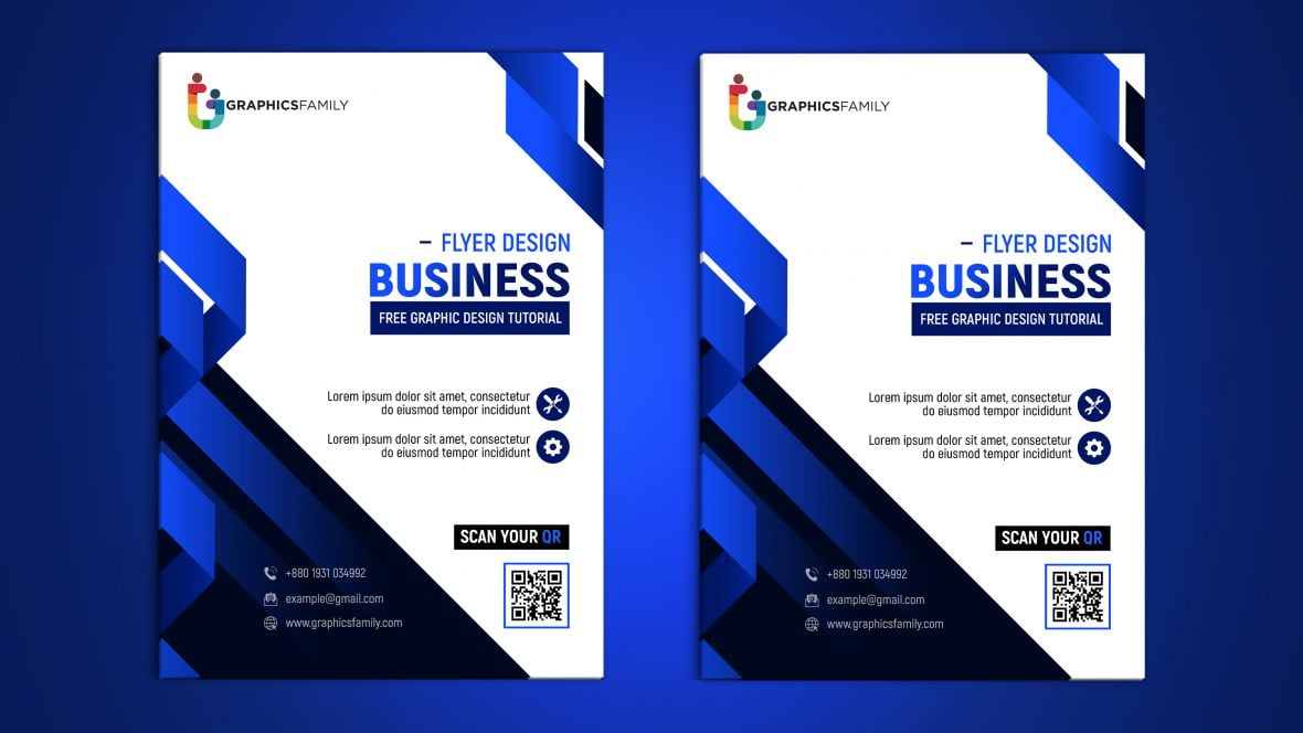 Free Modern Flyer Design Cover Template PSD