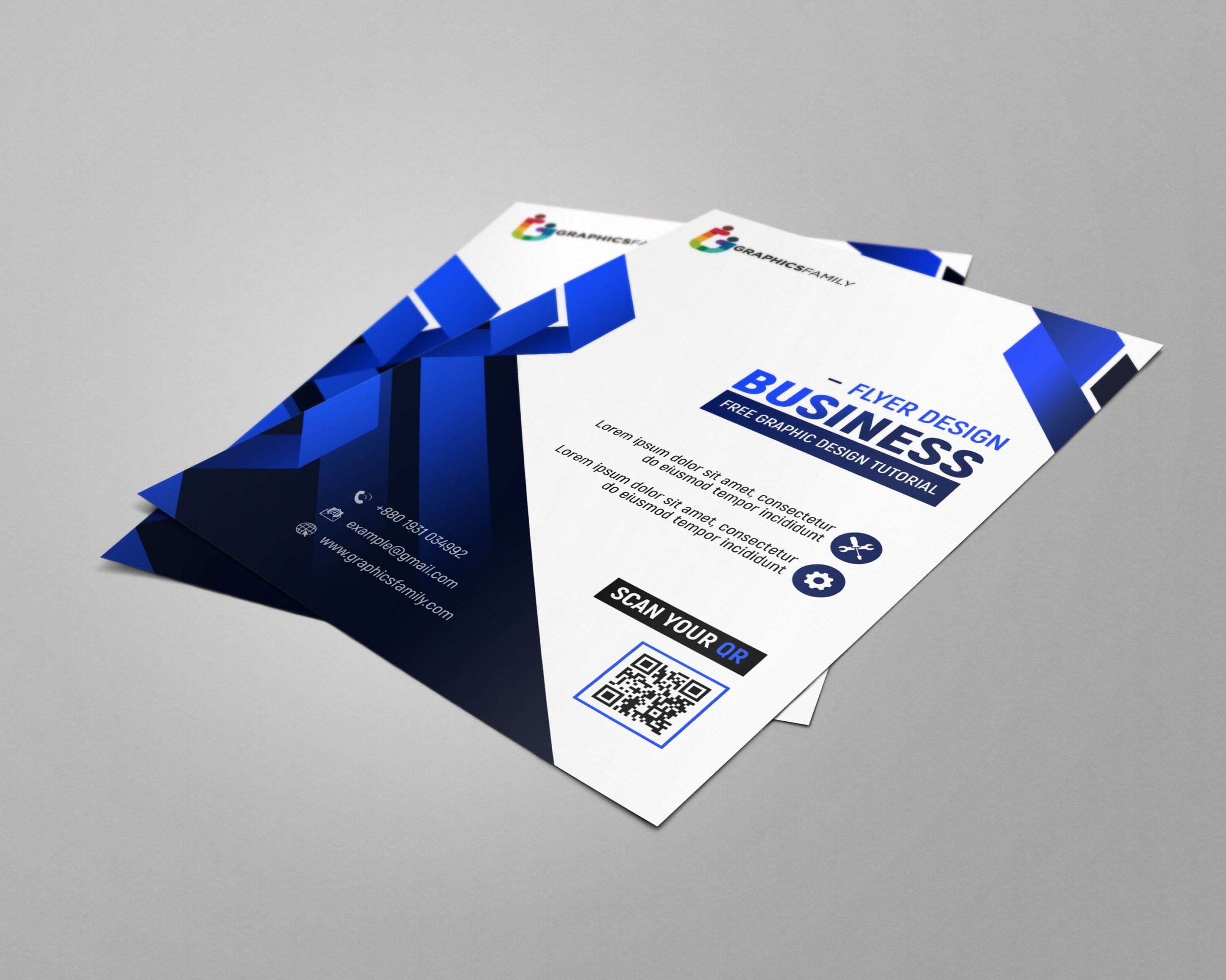 Free Modern Flyer Design Cover Template PSD Download