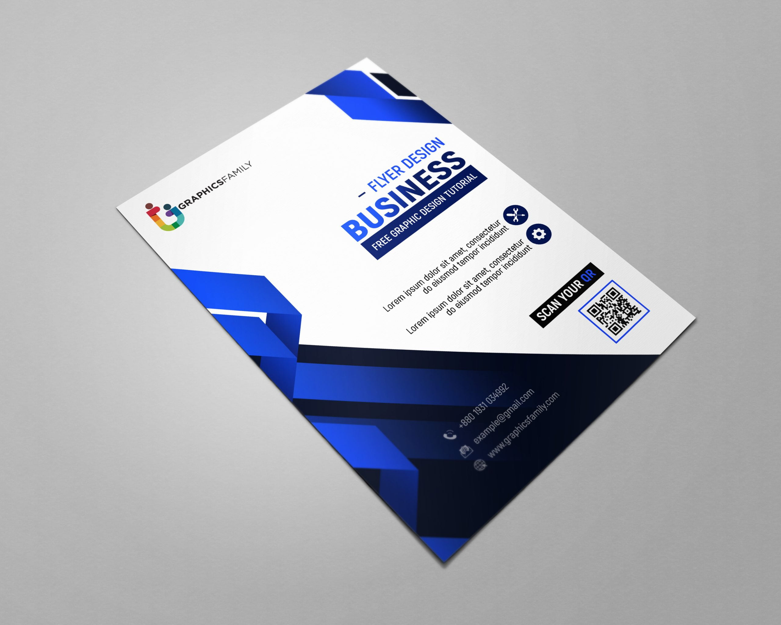 Free Modern Flyer Design Cover Template