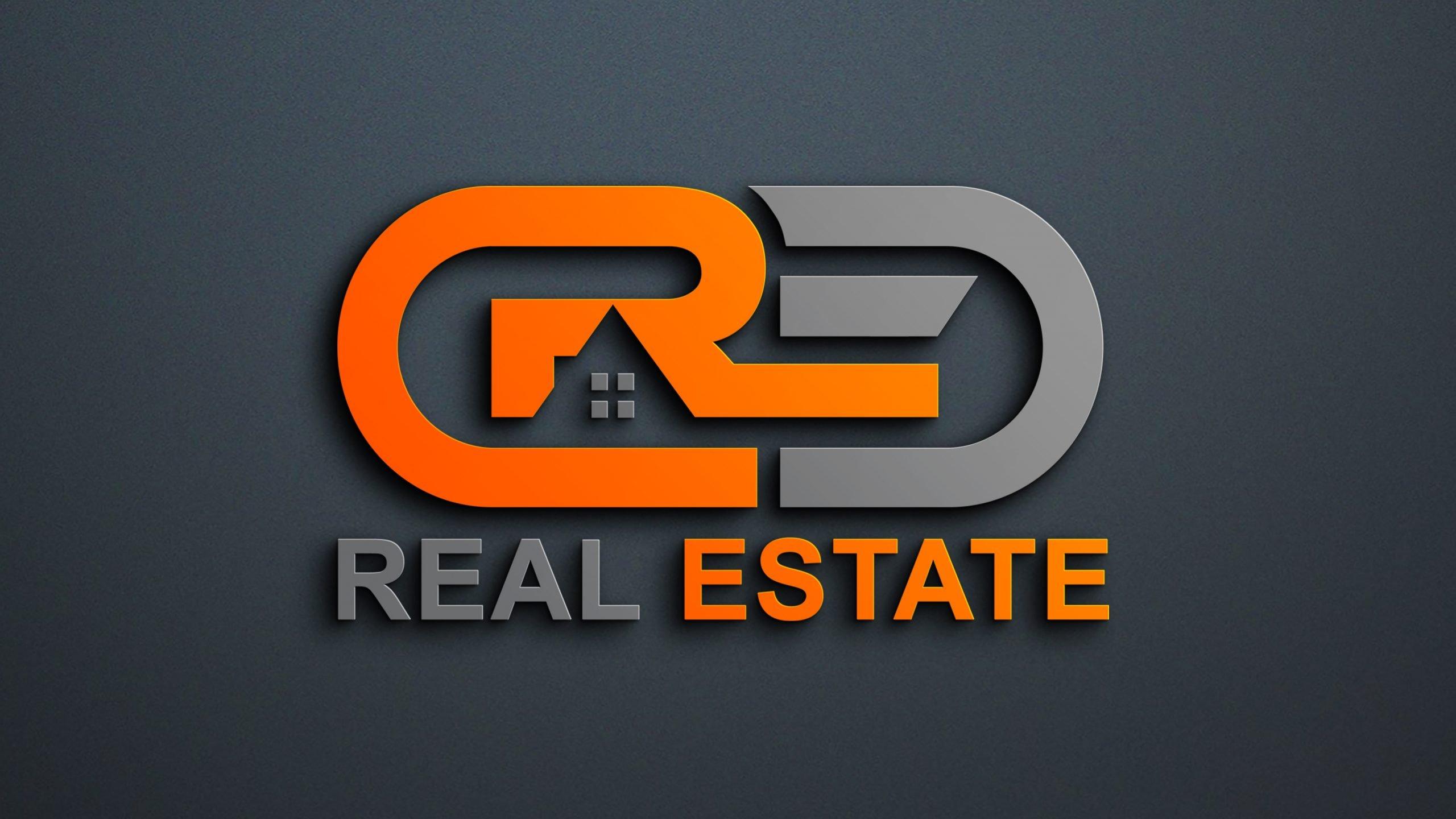 Free Modern Real Estate Company Logo Design PSD