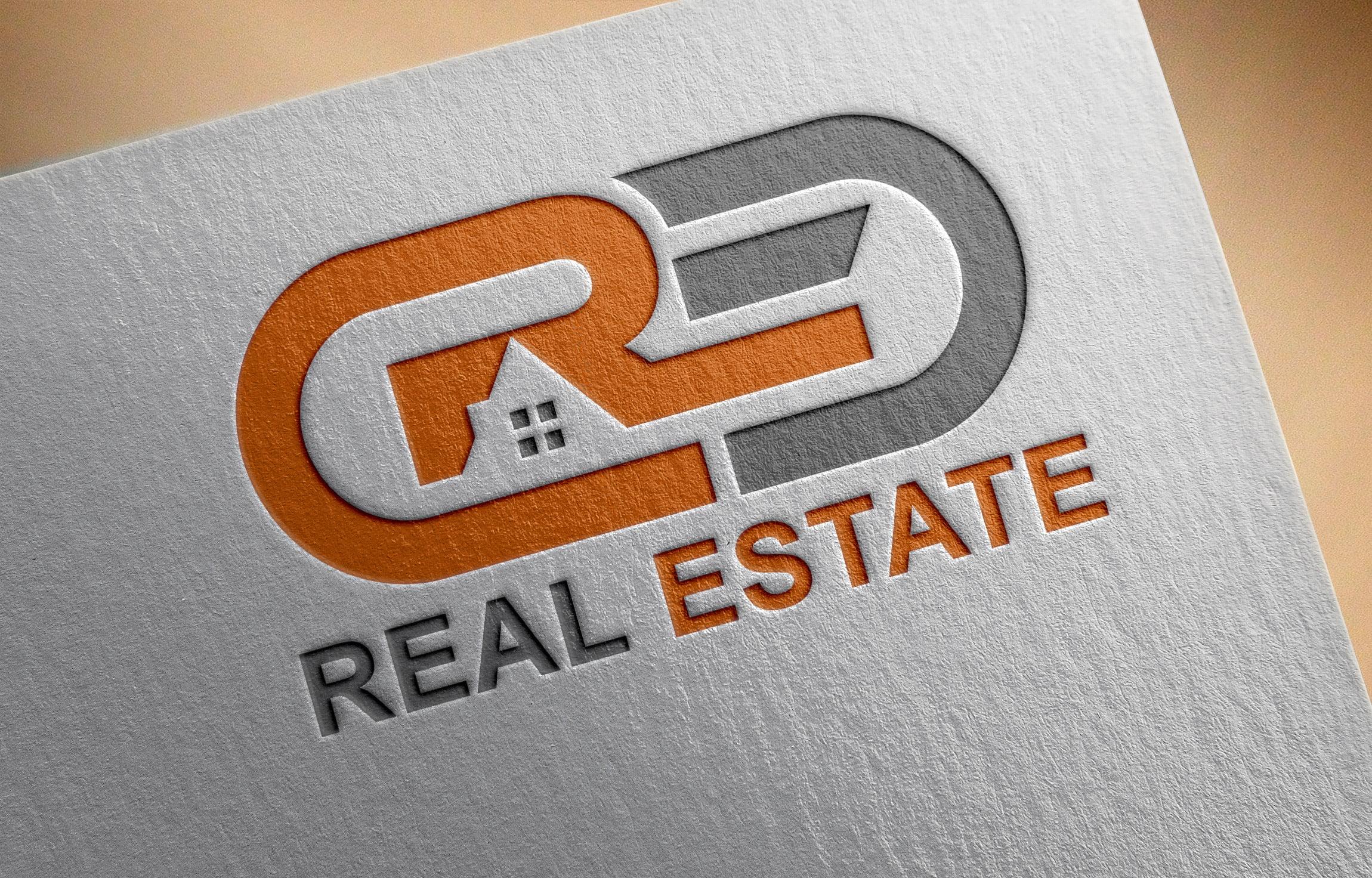 Free Modern Real Estate Company Logo Template PSD