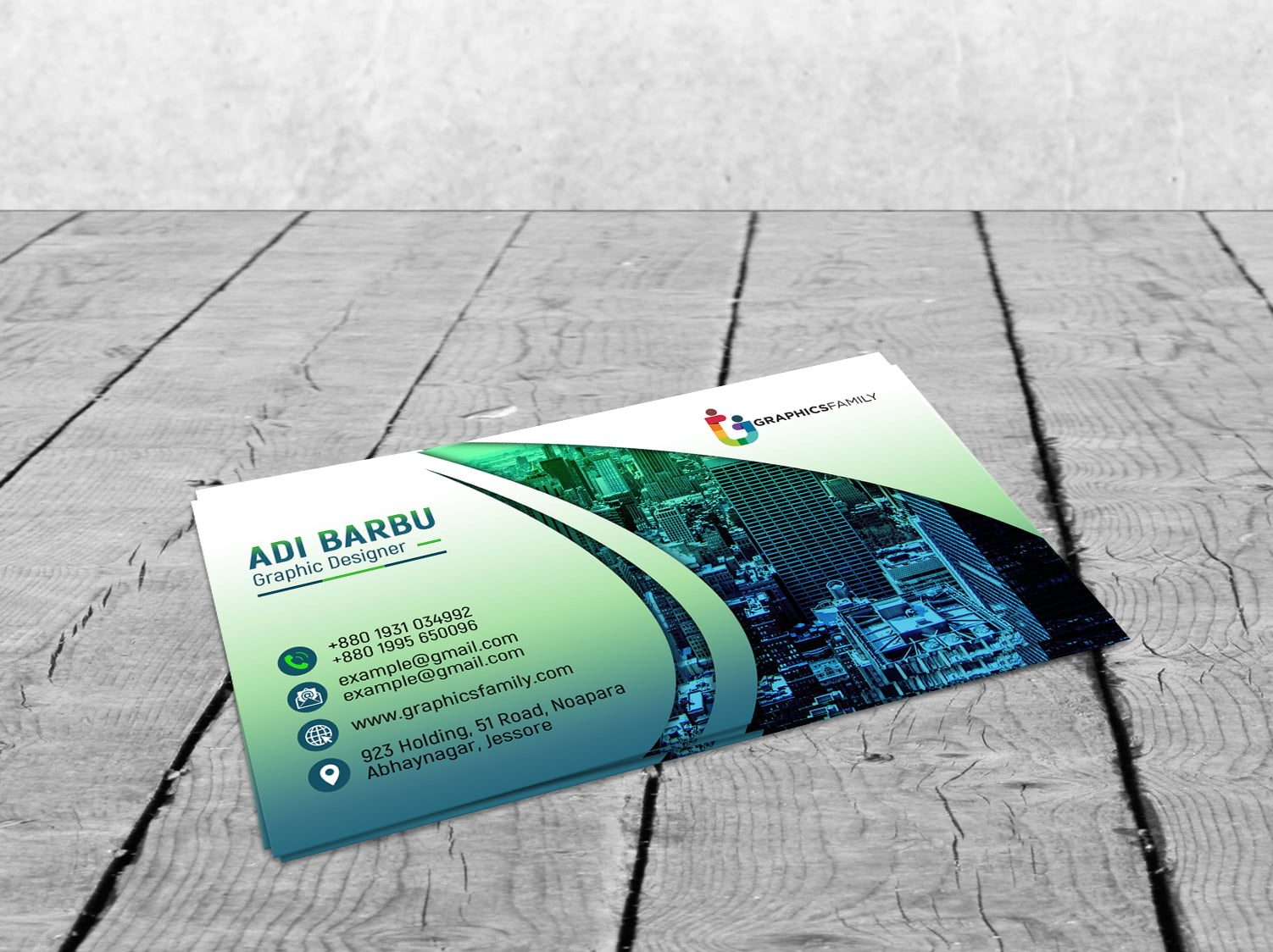 Free PSD Download Creative Elegant Business Card Design