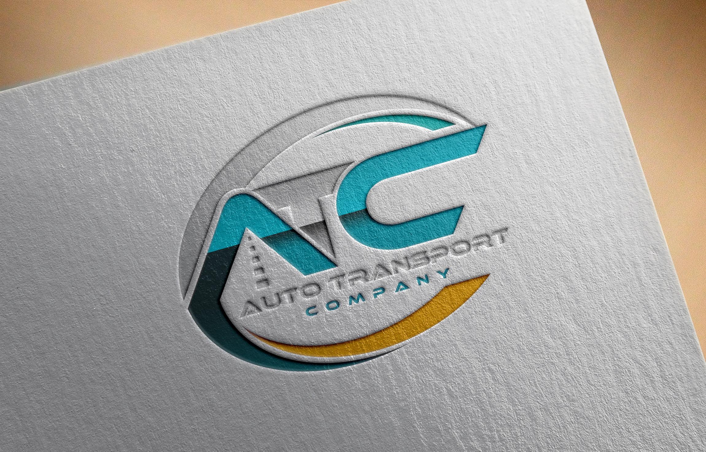 Free PSD Transport Company Logo Design