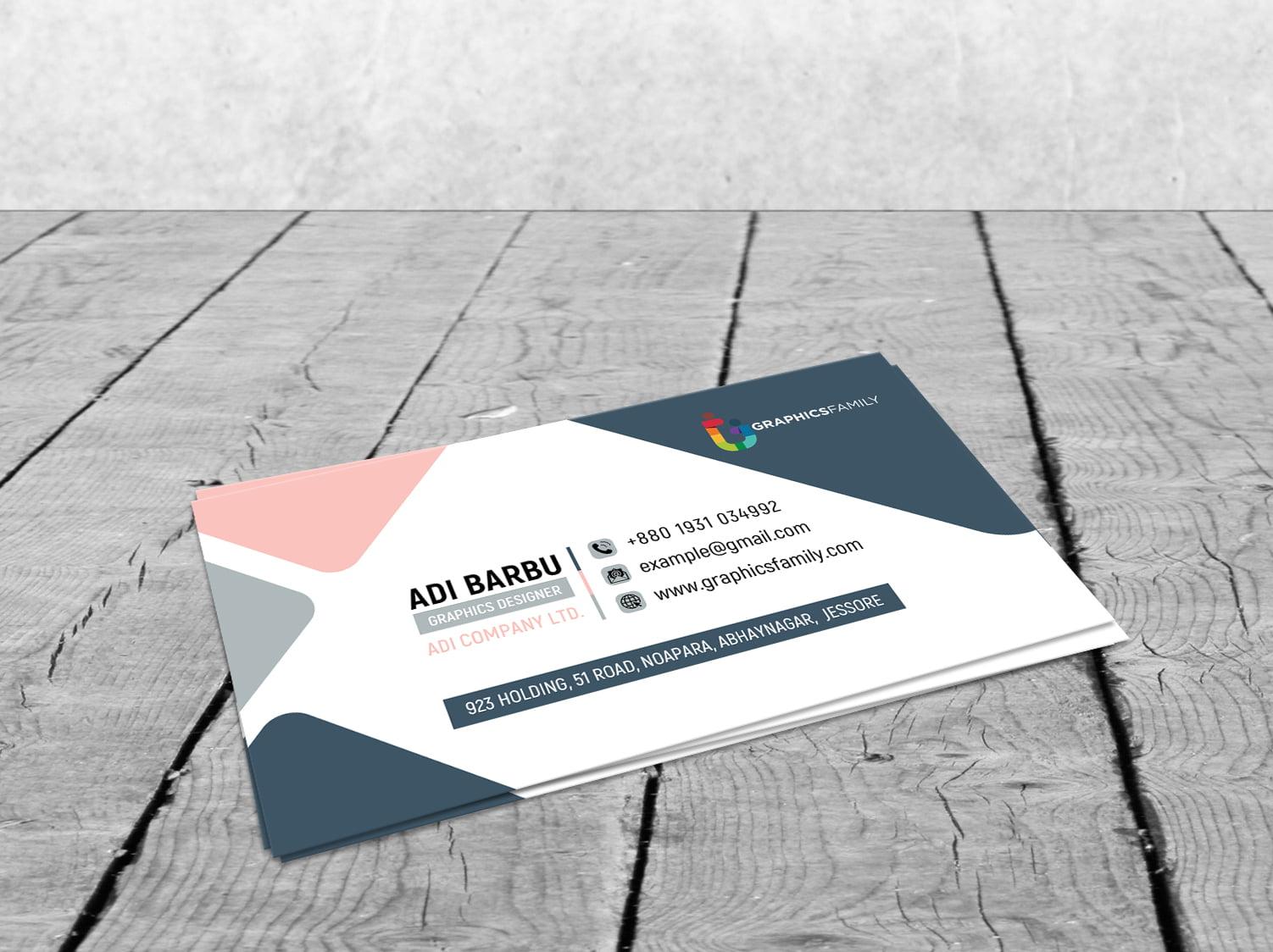 Free Photoshop Minimal Modern Business Card Design