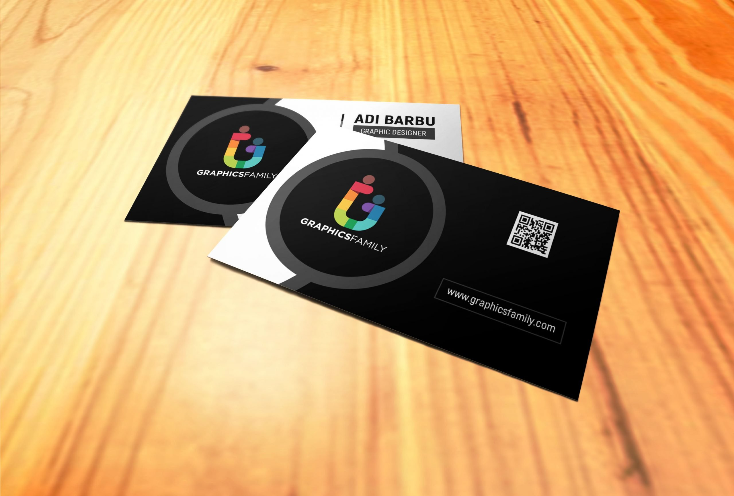 Free Photoshop Simple Black and White Business Card Design
