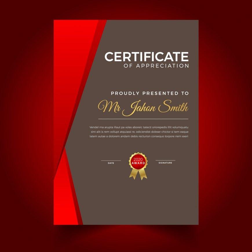 Free Portrait Certificate Template