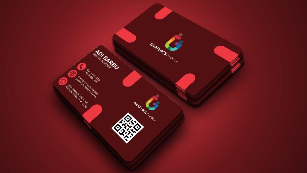 Free Professional Red Business Card Desgin